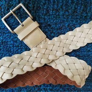 Banana Republic Leather Wide Leather Belt XS